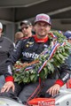 Will Power in victory lane after winning the 2018 Indianapolis 500.