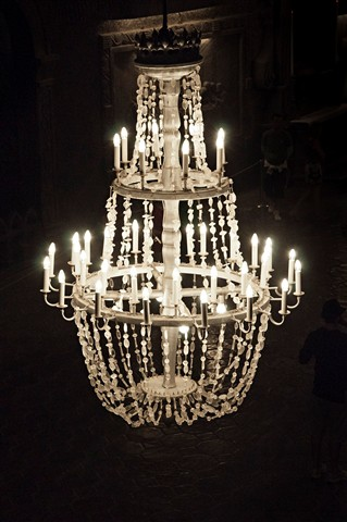 Salt made chandelier