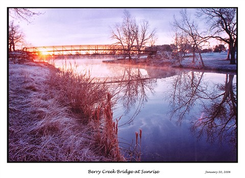 Berry Creek Bridge At Sunrise challenge