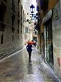 Barcelona on a rainy day