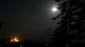 Moon lit hiil town