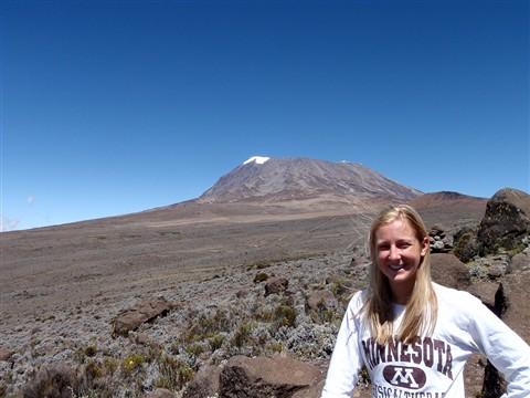 Luisa Climbing Kilimanjaro