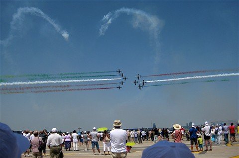 Frecce Tricolori @ Bucharest International Air Show 2012