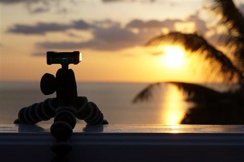 GorillaPod in sunset