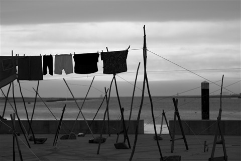 Clothes on the clothesline