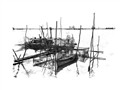 Fishing Net - Pencil sketch and dodge highlight tool to burn all details