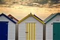 Beach Huts, Paignton, uk