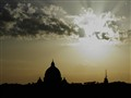 "Rome. sunset and the ""cupolone"""