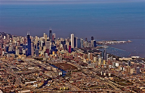 Chicago from airplane2