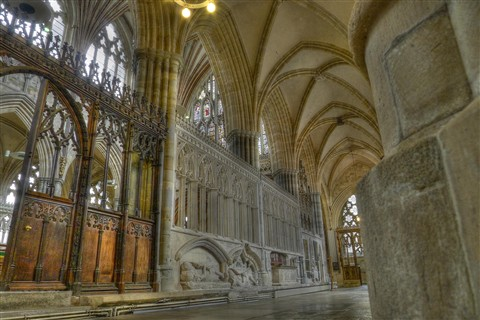 Exeter Cathedral - Side Aisle