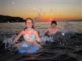 Double splash in Adriatic sea