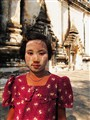 Myanmar Girl With Thanaka Powder On Her Face