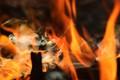 Flickering flames