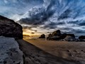 Praia de Illas sunset