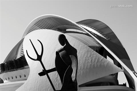 Valencia: Palau de les Arts Reina Sofia - Sculpture