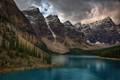 Moraine Lake, Banff Nat'l Park, Canada.