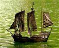 Pirate Sailboat Model