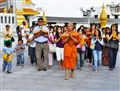 Thai Monk and the procession...