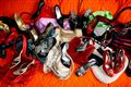 coloured world of bags and shoes